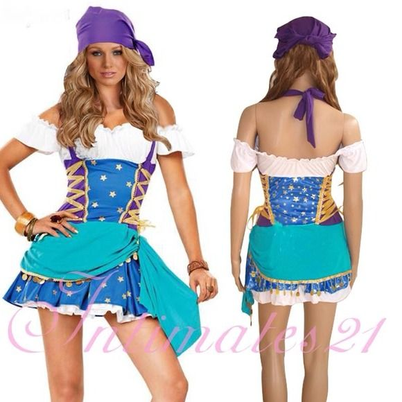 Gypsy Princess Costume Torrid 2013 Halloween costume. Only worn once. Costume comes with purple head band. Does Not Come With Leggings. :) Torrid Dresses