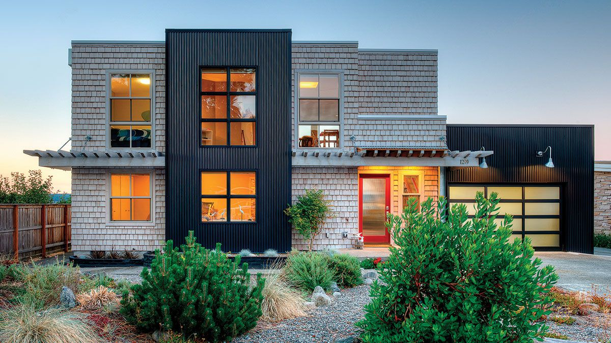 Removing the mansard roof and exposing the original structure beneath brought new life to this waterfront home. - Fine Homebuilding #Houses #ModernHouses #Homes #HomeDesign #Architecture