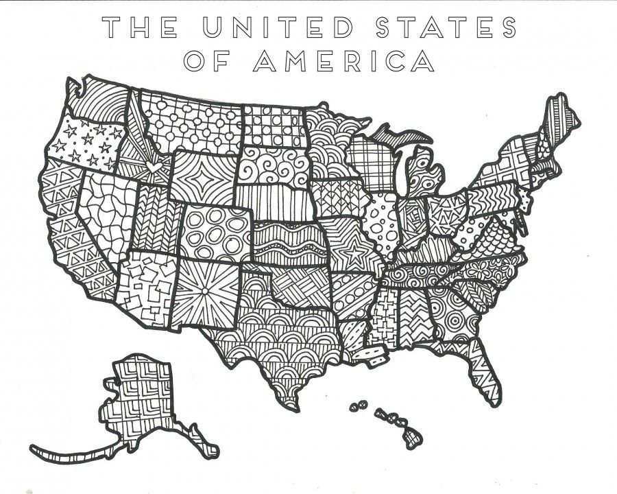 4th of July Coloring pages American flag coloring page