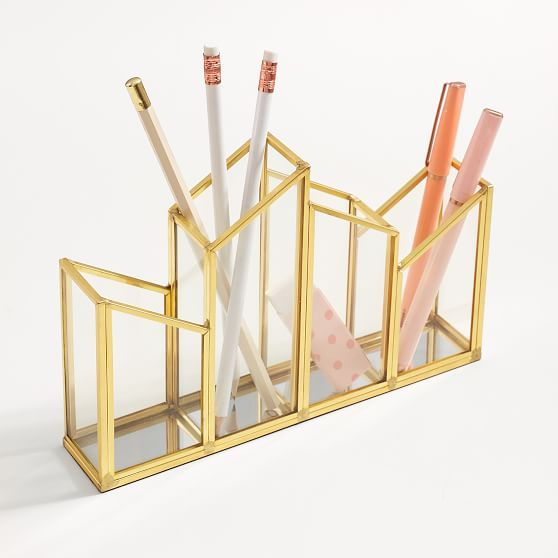 Bedroom Art Supplies: Skyline 4 Section Pencil Holder In 2019