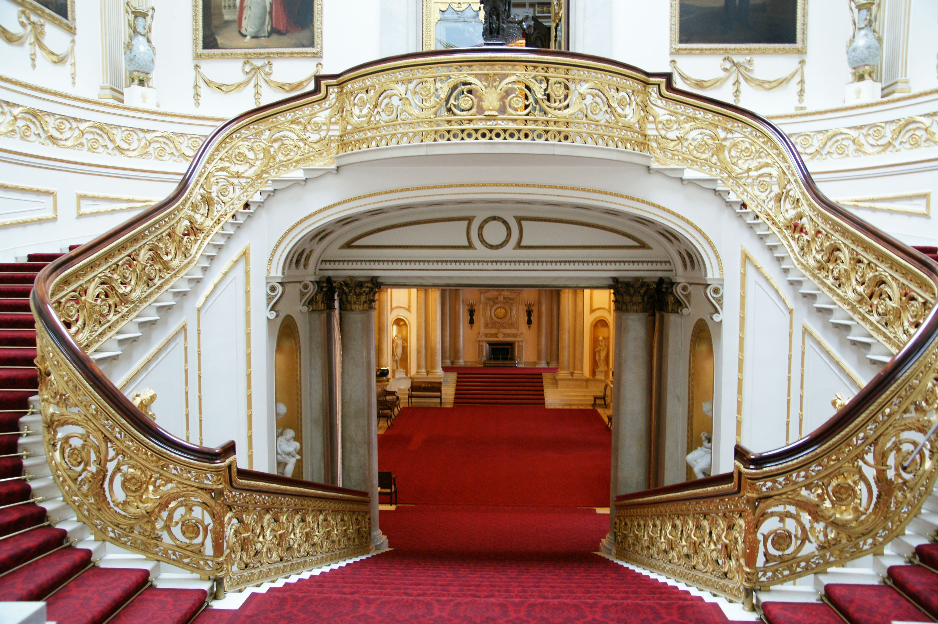 Image result for Grand staircase buckingham Palace