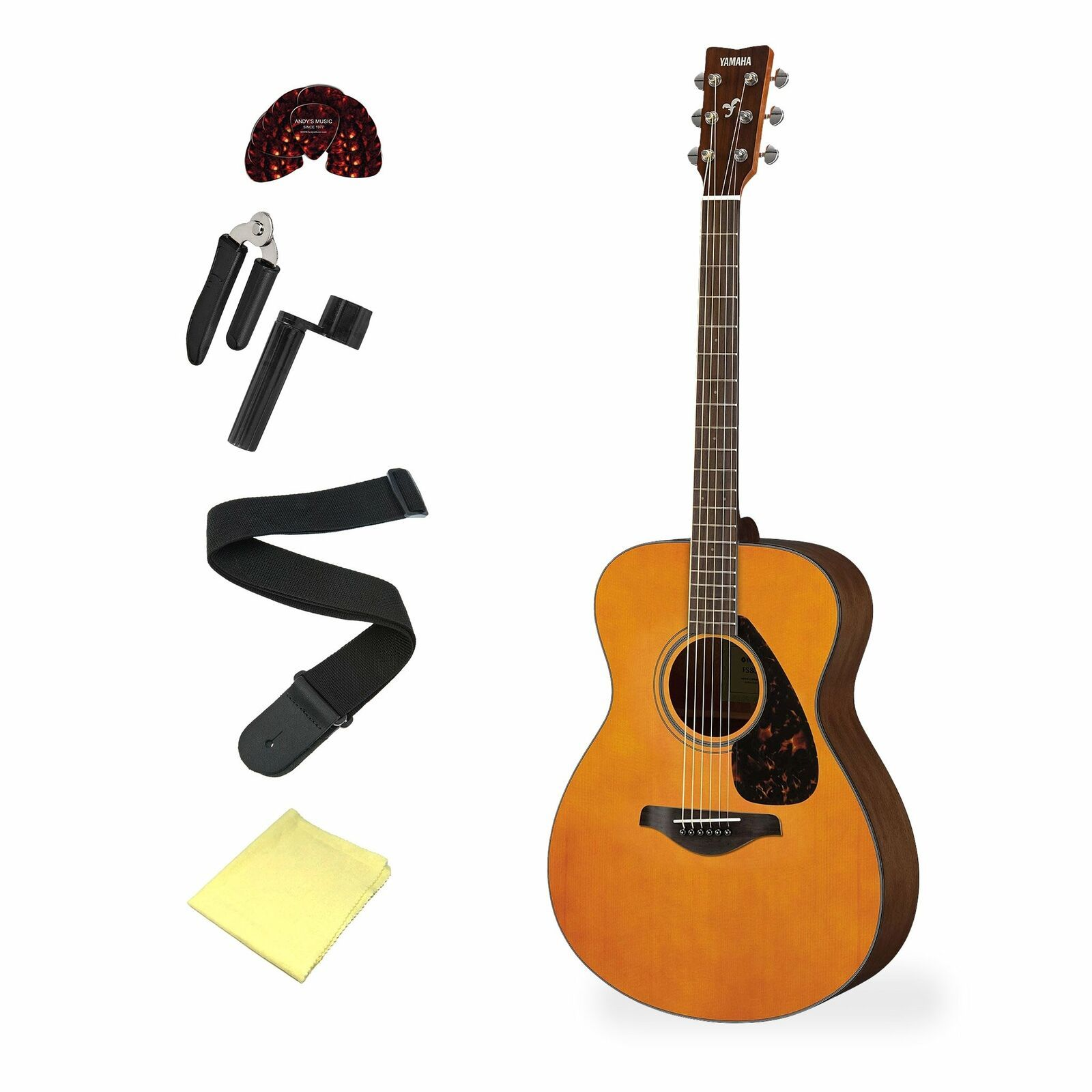 Details About Yamaha Fs800t Tinted Acoustic Guitar Select Your Bundle In 2020 With Images Acoustic Guitar Small Guitar Guitar