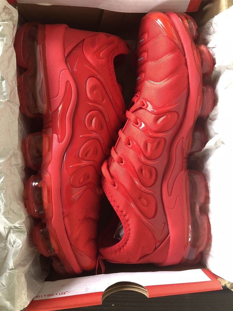 360513a31fe Nike air vapormax plus triple red  fashion  clothing  shoes  accessories   mensshoes  athleticshoes (ebay link)