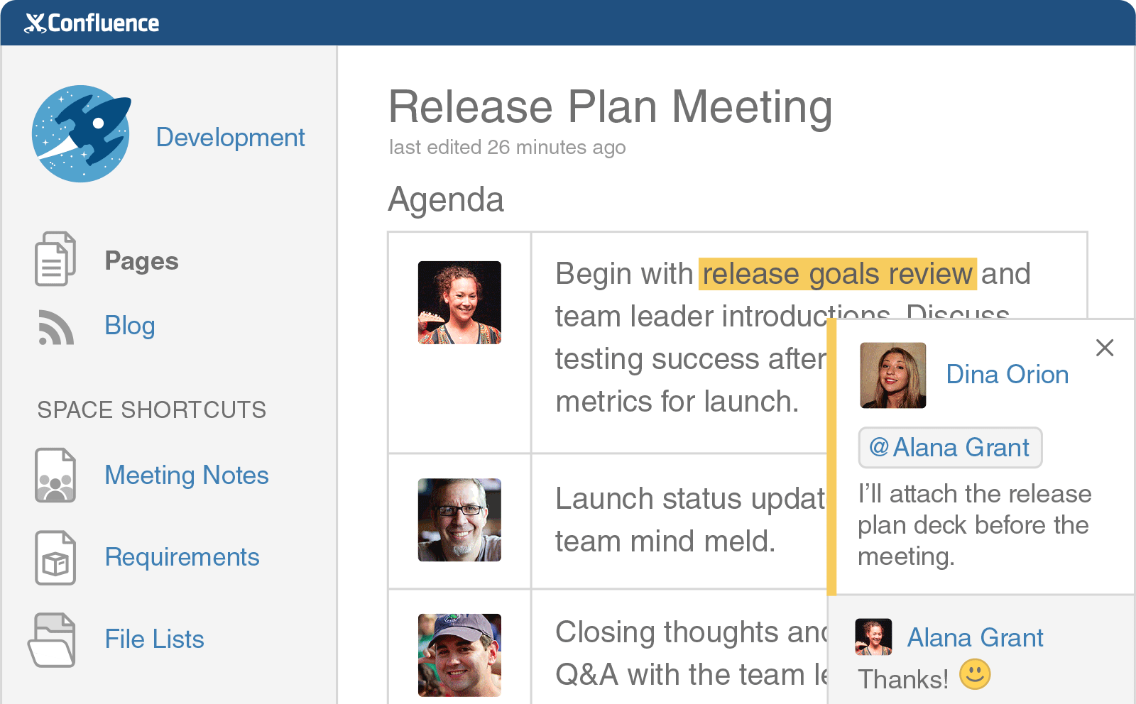 Confluence Team Collaboration Software Atlassian Confluence Digital News Goals Review