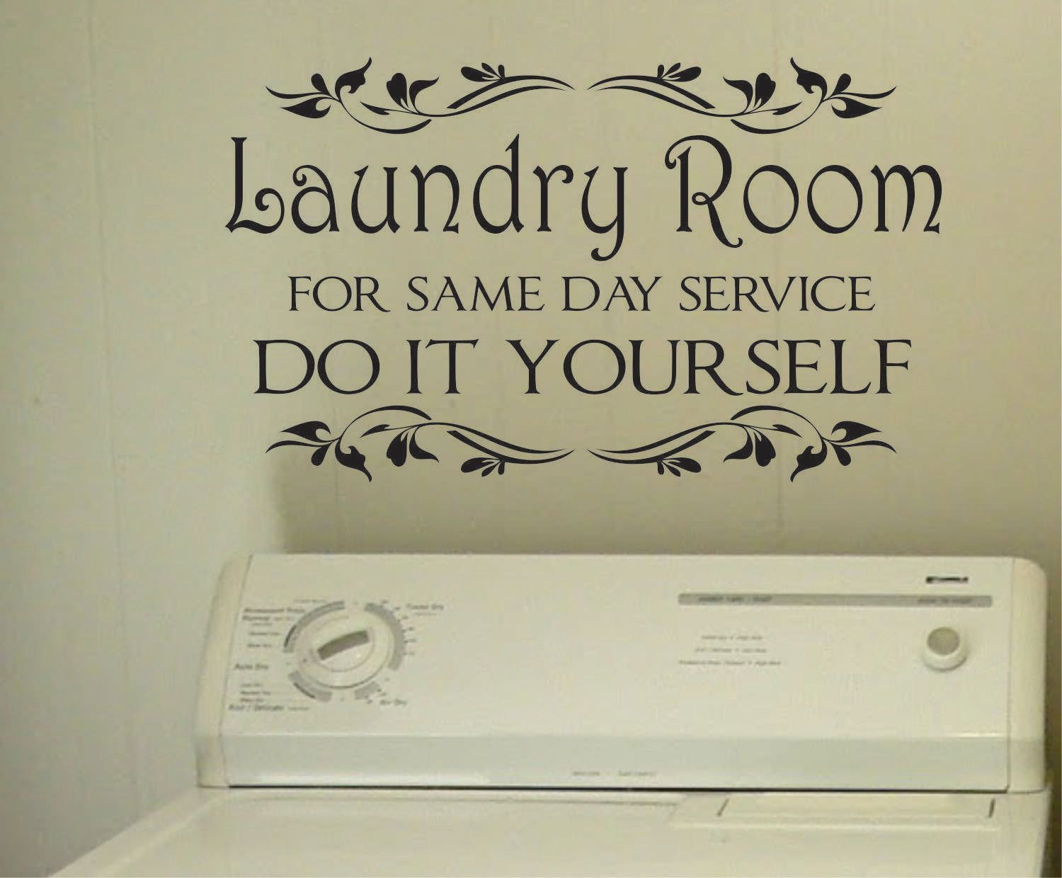 Laundry Room Vinyl Wall Quotes Laundry Same Day Service  Vinyl Decals  Wall Lettering  Laundry