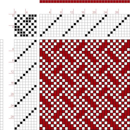 draft image: 08107, 2500 Armature - Intreccio Per Tessuti Di Lana, Cotone, Rayon, Seta - Eugenio Poma, 8S, 8T