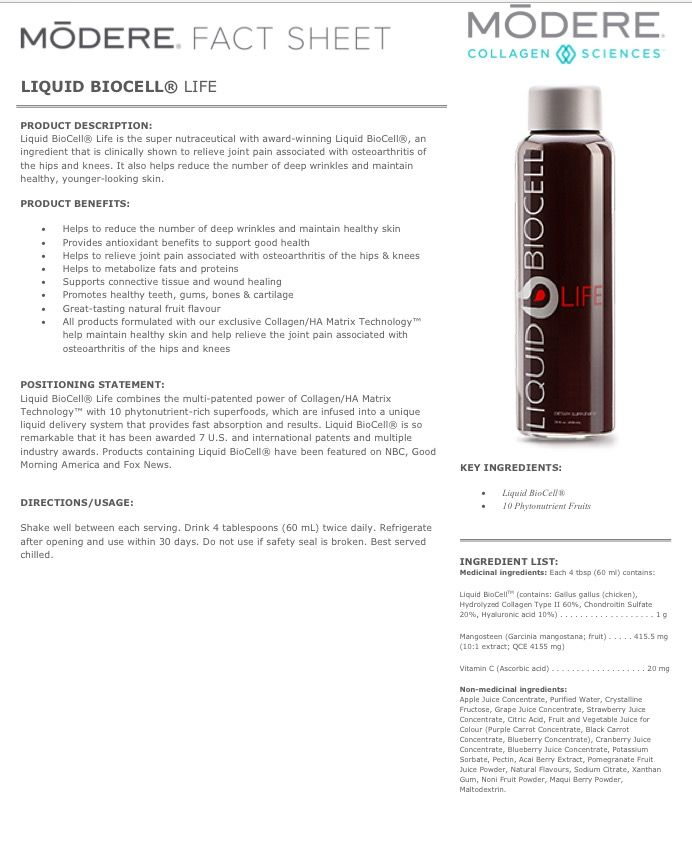 57100e228a Biocell fact sheet! This stuff is legit! Order yours at modere.ca  referralcode 407902 for  10 off!