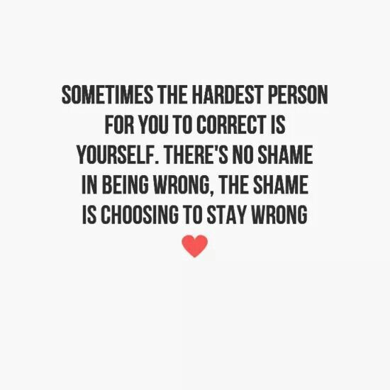 No shame in being wrong.