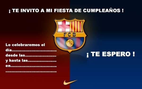 Invitacion Cumpleaños Del Barcelona Invitaciones De