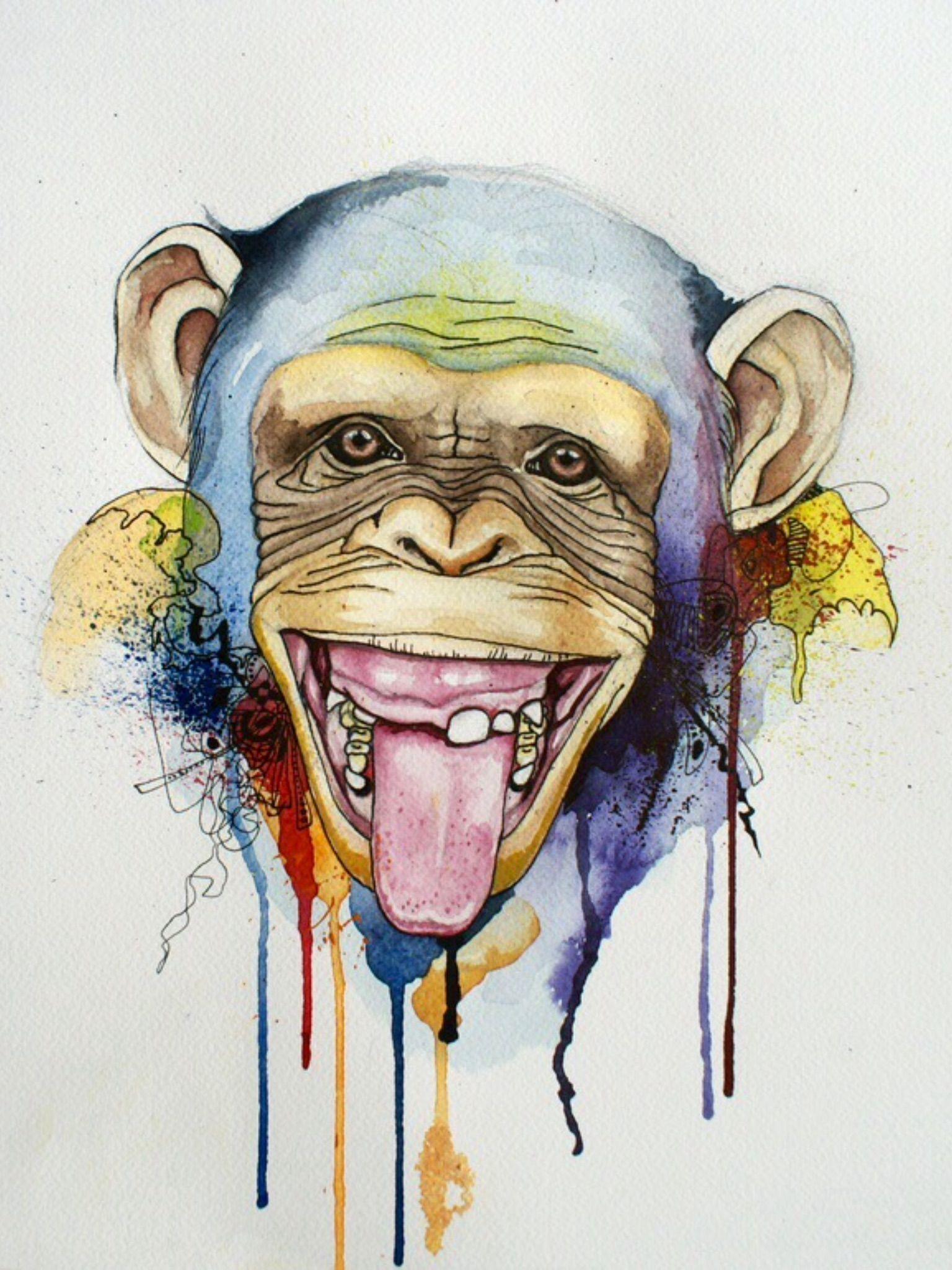 Monkey-ing Around image by Tan2914 | Monkey art, Monkey ...