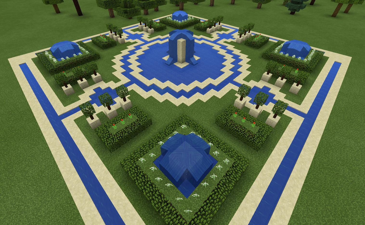 Minecraft Fountain Garden Maze Minecraft Creations Minecraft