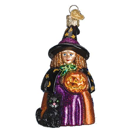 Cute Witch Glass Ornament   Old World Christmas   Pinterest ...