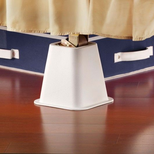 Best Bed Risers 4 Pack White 6 Inch With Images Bed 640 x 480