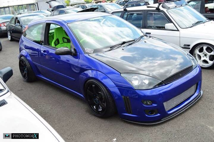 Blue Zx3 With A Great Body Kit Ford Focus Ford Focus St Ford Focus Svt