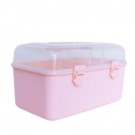 Boite de Rangement Couture - Rose (avec images)   Boîte à couture, Rangement couture, Jolies ...