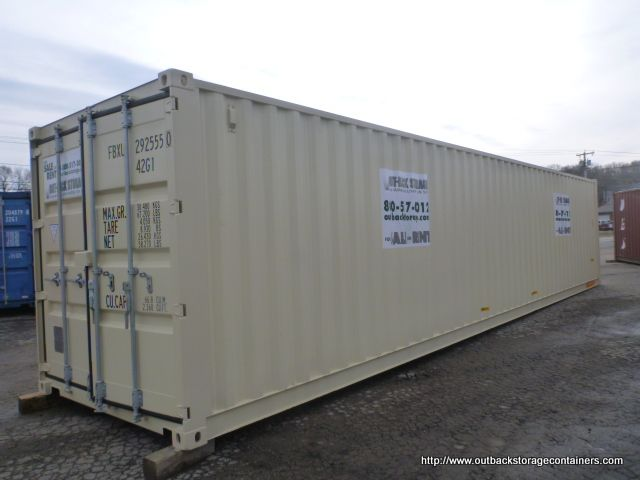 40 X 8 X 8 5 Tall New One Trip Double Door Shipping Container Shipping Container Storage Containers For Sale Container