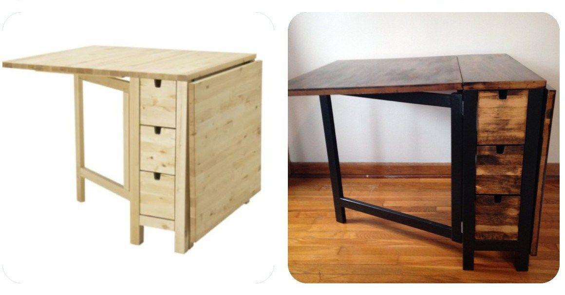 Ikea Norden Gateleg Table Goes Dark Ikea Hackers Norden Gateleg Table Ikea Norden Table Ikea