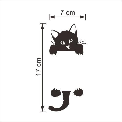 Photo of Removable Funny Black Cat Switch Wall Sticker Room Decal House Bedroom Decor – Black