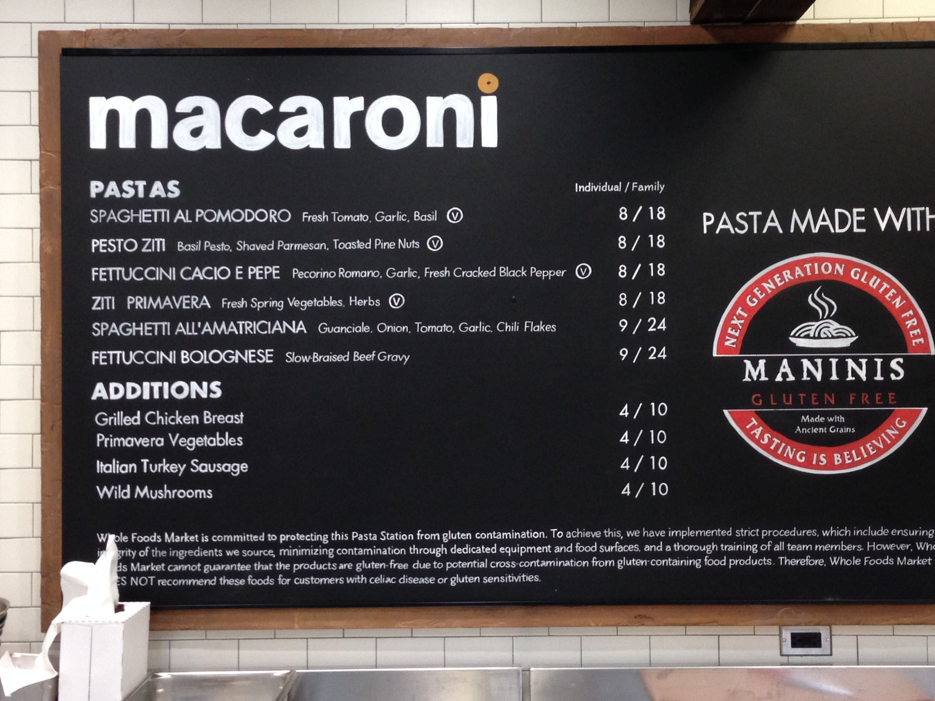 Can you believe it a pasta bar at whole foods marlboro