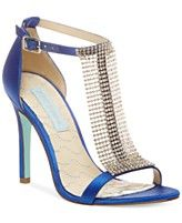 Blue by Betsey Johnson Mesh Evening Sandals