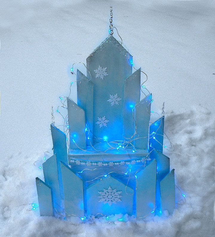 Learn How To Make My Version Elsa's Ice Castle Inspired By