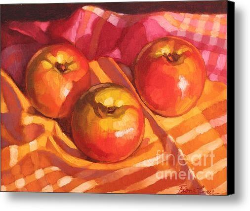 Three Apples Canvas Print / Canvas Art By Fiona Craig