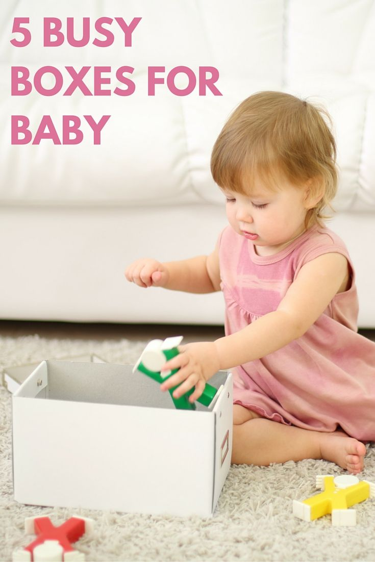 Five fun busy boxes for baby