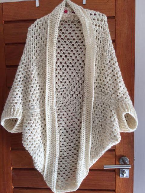 Delicadezas en crochet Gabriela: Chaqueta Cocon granny crochet paso ...
