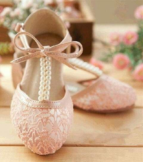 Pink and pearls p pinterest pearls creamy ivory pearl lace girls shoes wedding shoes by lacenbling mightylinksfo