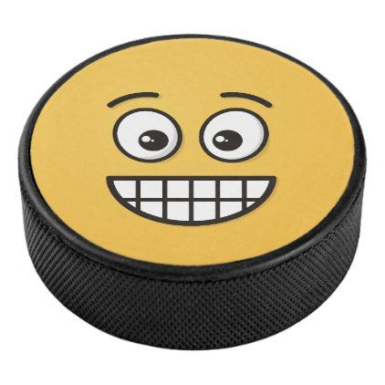 GRAPHICS /& MORE Smiley Smile Happy Yellow Face Ice Hockey Puck