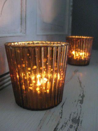 Copper Glass Tealite
