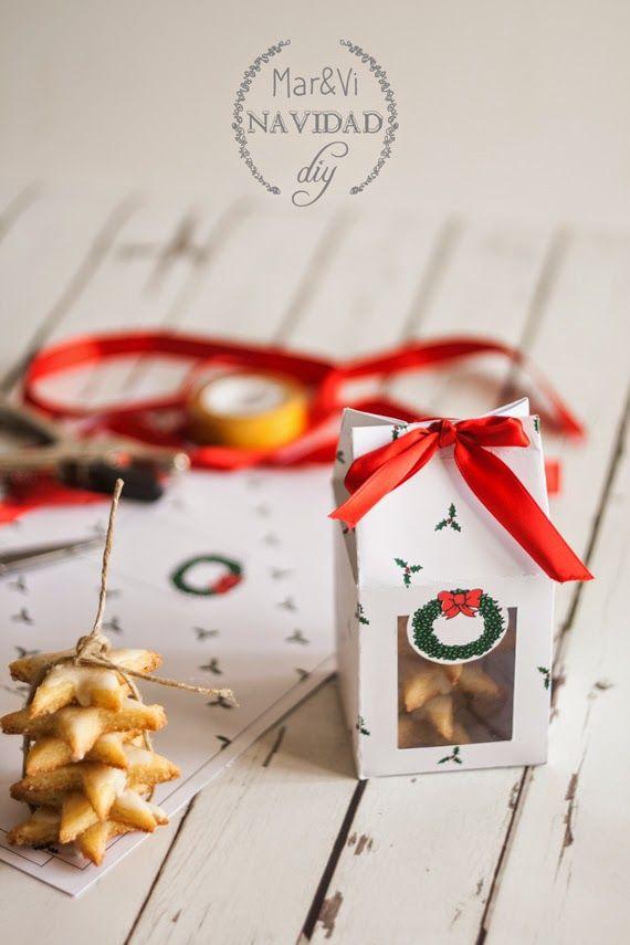 Mar&Vi Creative Studio - España: Regalos de Navidad, caja para galletas para descargar gratis