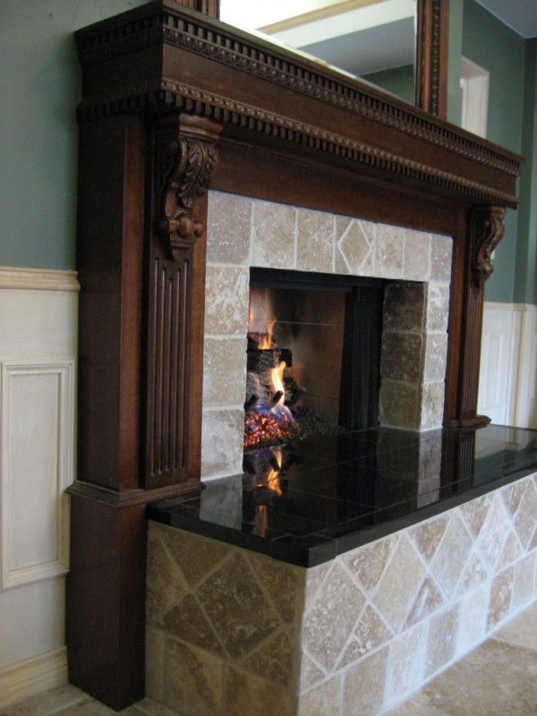 Decoration Adorable Granite On Fireplace Hearth With Travertine Tile  Fireplace Surround Also Wire Mesh Fireplace Curtain