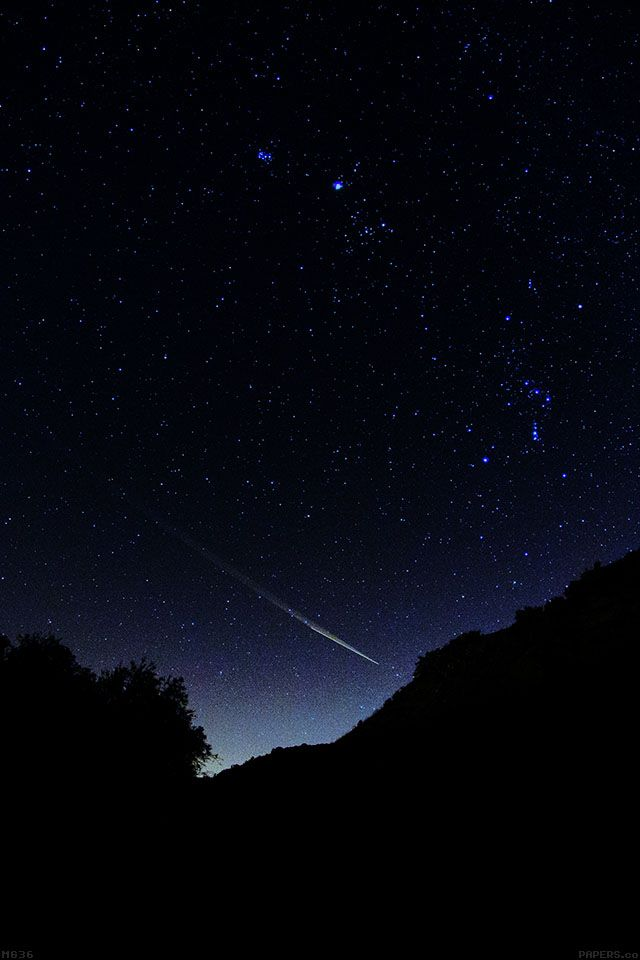 Mg36 Astronomy Space Dark Sky Night Beautiful Falling Star Parallax Hd Iphone Ipad Wallpaper Beautiful Paisajes
