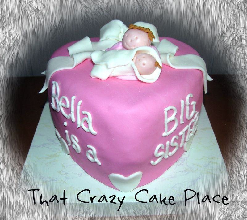 cake ideas for big sister at baby shower   Baby Shower - Custom Carved Cakes