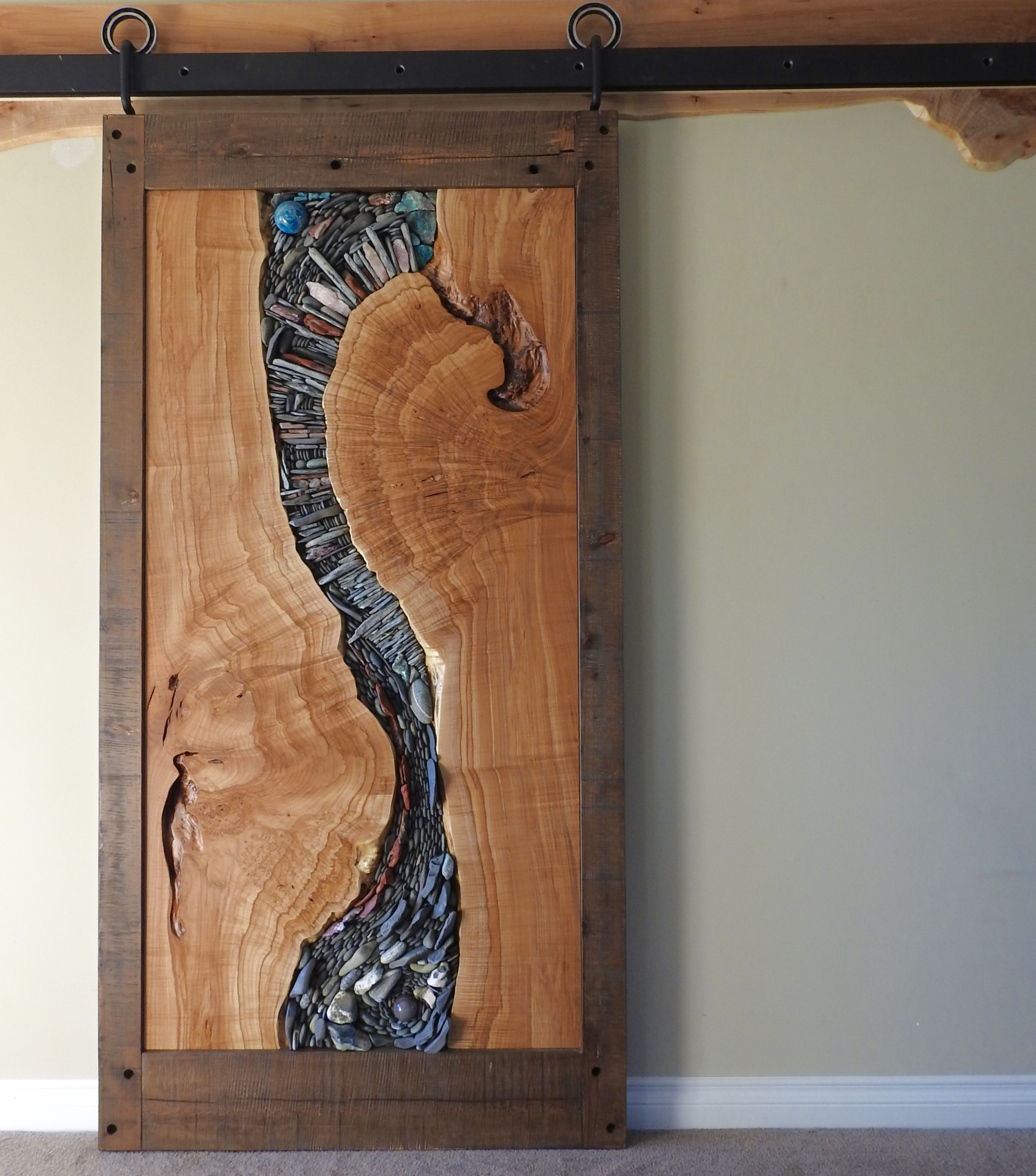We Created Our First Live Edge Natural Stone Barn Door