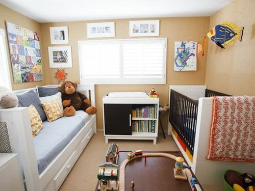 Twin And Crib Shared Bedrooms Google Search Nursery