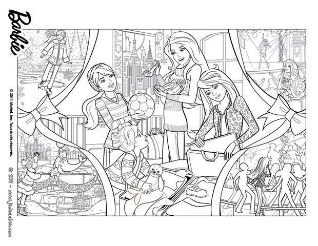 coloring de noël |  Un Merveilleux Noël   Coloriage de Barbie