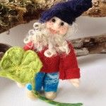 irish leprechaun at Irish felt Fairy