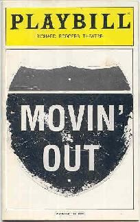 Billy Joel Broadway Play Movin Out Playbill Movin Out Billy Joel Broadway