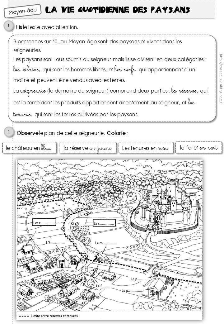 Connu La vie quotidienne des paysans au Moyen-âge - Caracolus | Moyen  WS77