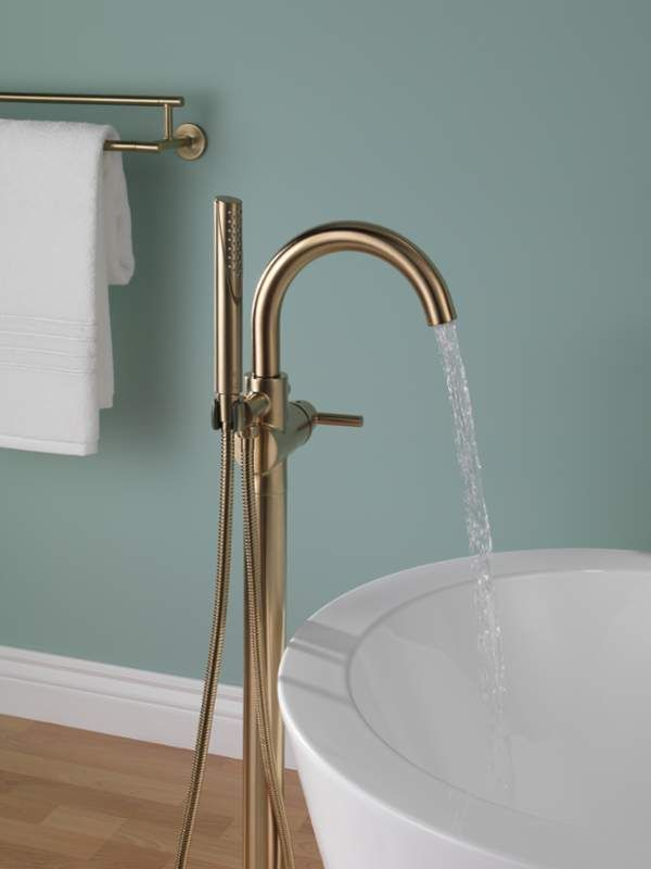 Delta T4759-CZFL Champagne Bronze Floor Mounted Free Standing Tub ...