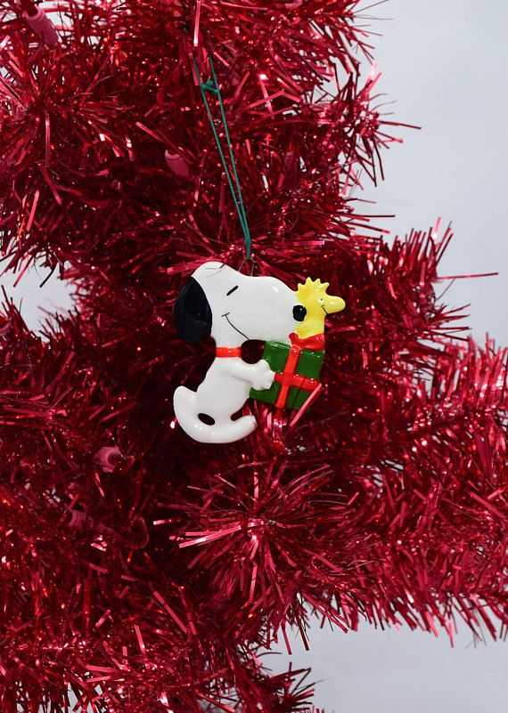 Snoopy And Woodstock Christmas Ornaments.Snoopy Woodstock Christmas Ornament Vintage Ceramic Peanuts