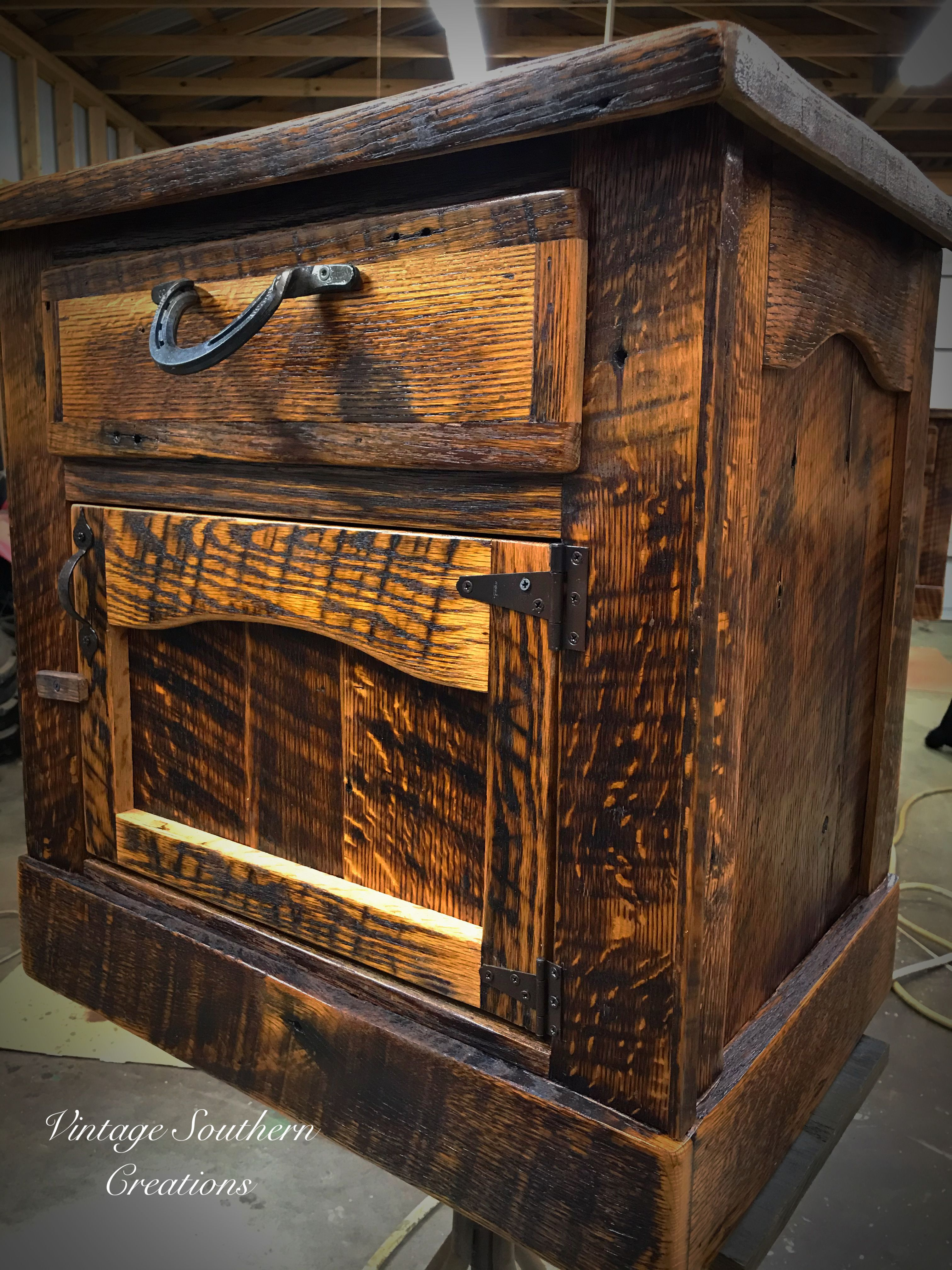 Nightstand built by vintage southern creations rustic