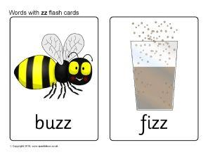 Words with zz Flash Cards (SB11494) - SparkleBox   Jolly ...