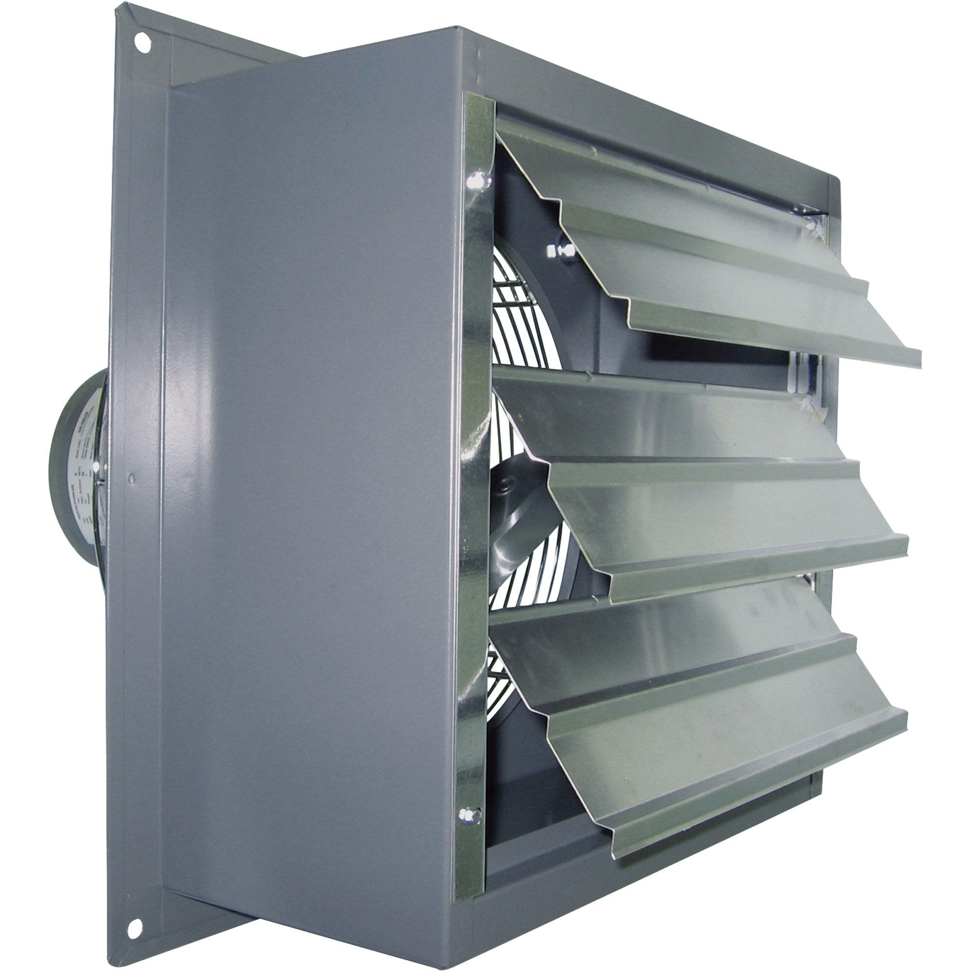 Wall Exhaust Fans With Louvers