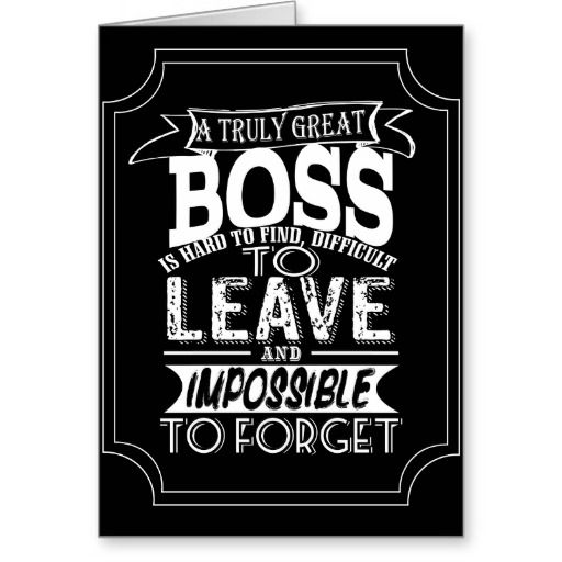 Boss Card A Truly Great Boss Leaving Card Boss Gift