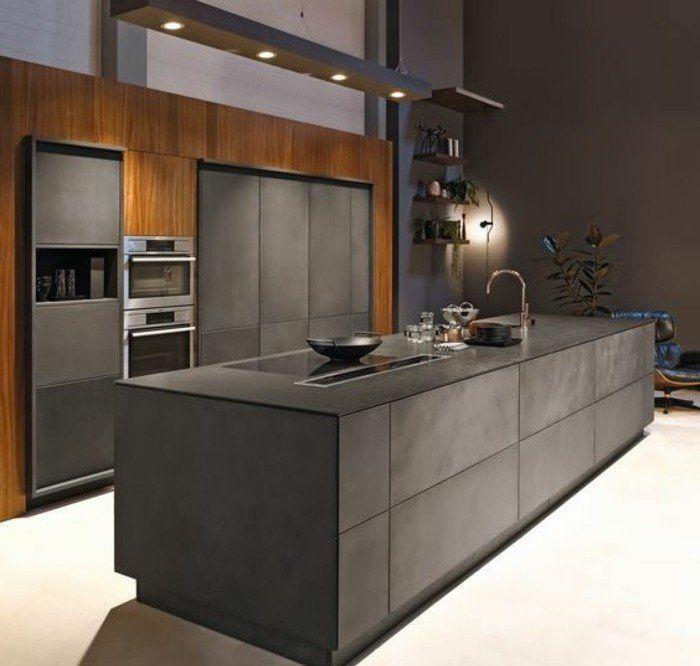 Cuisine gris anthracite - 56 idées pour une cuisine chic et moderne ...