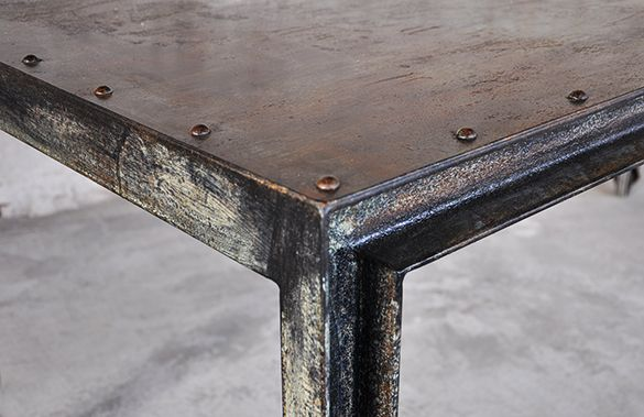 Mobili In Ferro Di Design.Caster Table Negozio Nuovo Nel 2019 Tavolo Industriale