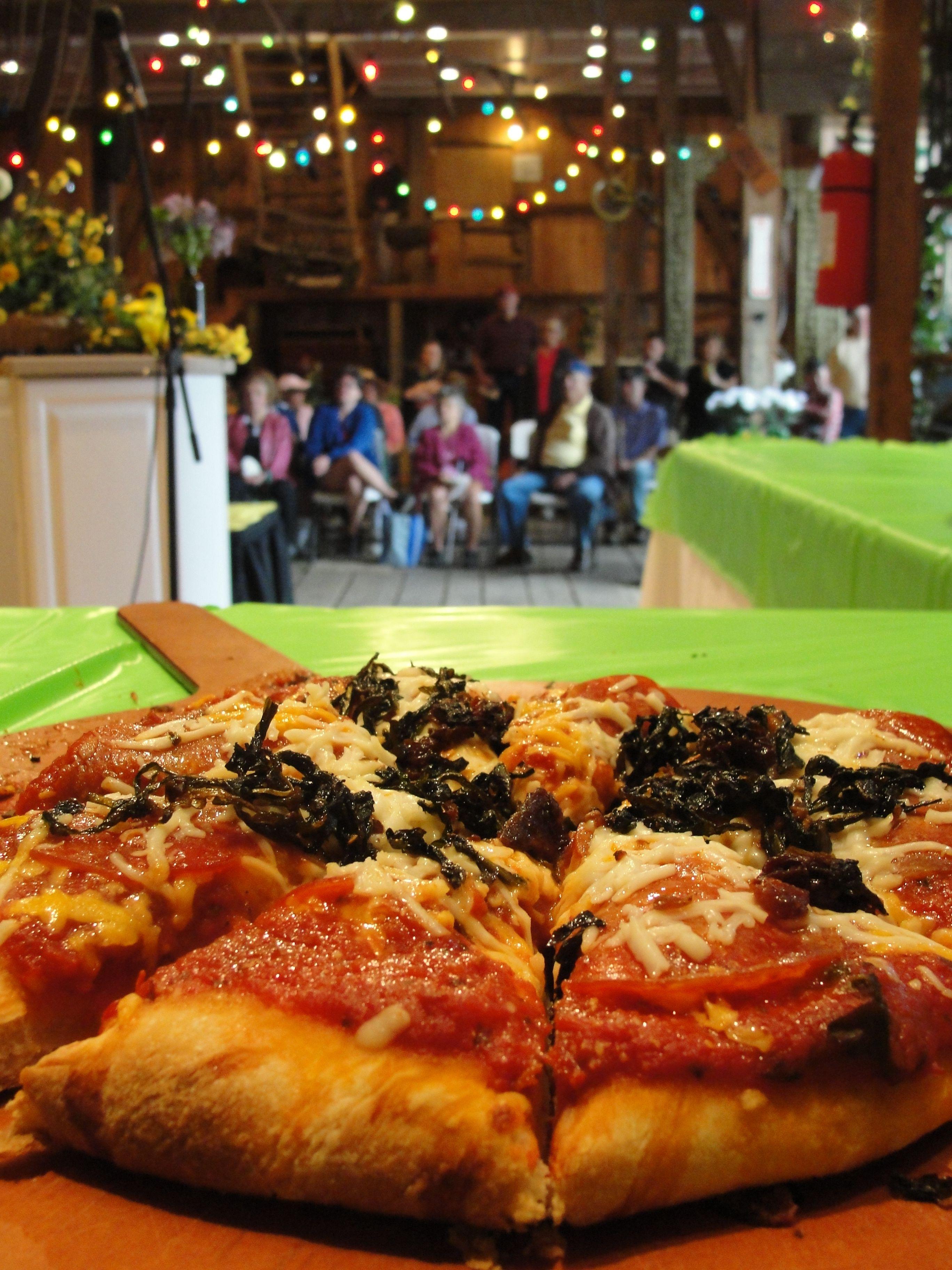 Dandelion Pizza! yum